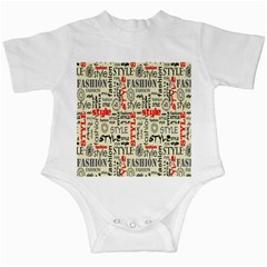 Backdrop Style With Texture And Typography Fashion Style Infant Creepers
