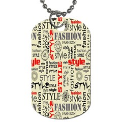 Backdrop Style With Texture And Typography Fashion Style Dog Tag (One Side)