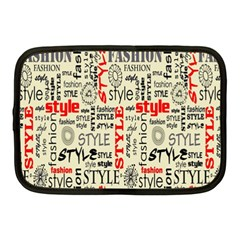 Backdrop Style With Texture And Typography Fashion Style Netbook Case (Medium)