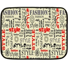 Backdrop Style With Texture And Typography Fashion Style Double Sided Fleece Blanket (Mini)