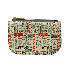Backdrop Style With Texture And Typography Fashion Style Mini Coin Purses