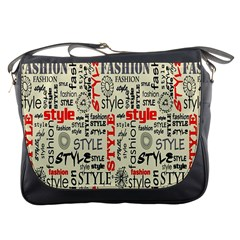Backdrop Style With Texture And Typography Fashion Style Messenger Bags