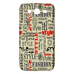 Backdrop Style With Texture And Typography Fashion Style Samsung Galaxy Mega 5.8 I9152 Hardshell Case