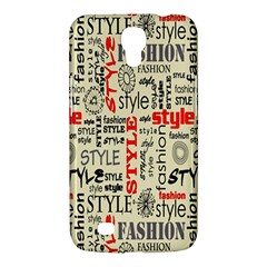 Backdrop Style With Texture And Typography Fashion Style Samsung Galaxy Mega 6.3  I9200 Hardshell Case