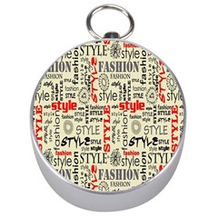 Backdrop Style With Texture And Typography Fashion Style Silver Compasses