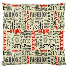 Backdrop Style With Texture And Typography Fashion Style Large Flano Cushion Case (One Side)