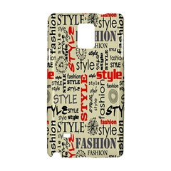 Backdrop Style With Texture And Typography Fashion Style Samsung Galaxy Note 4 Hardshell Case