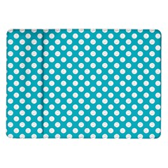 Sleeping Kitties Polka Dots Teal Samsung Galaxy Tab 10 1  P7500 Flip Case