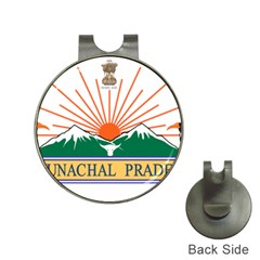 Seal Of Indian State Of Arunachal Pradesh  Hat Clips With Golf Markers