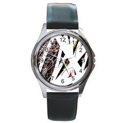 Art Round Metal Watch