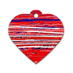 Art Dog Tag Heart (Two Sides)