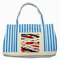 Art Striped Blue Tote Bag