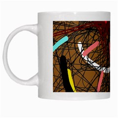 Art White Mugs