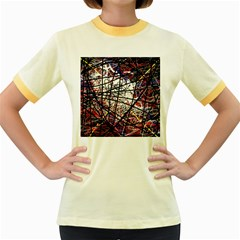 Art Women s Fitted Ringer T-Shirts