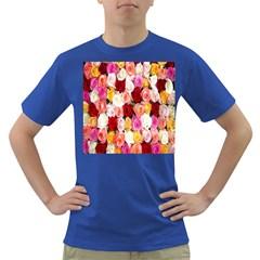 Rose Color Beautiful Flowers Dark T-Shirt