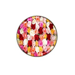Rose Color Beautiful Flowers Hat Clip Ball Marker (4 pack)