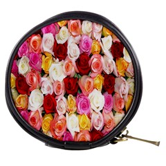 Rose Color Beautiful Flowers Mini Makeup Bags