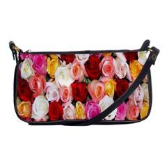 Rose Color Beautiful Flowers Shoulder Clutch Bags