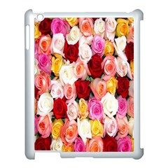 Rose Color Beautiful Flowers Apple iPad 3/4 Case (White)