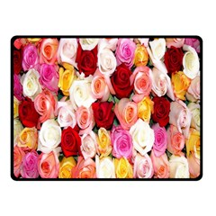 Rose Color Beautiful Flowers Double Sided Fleece Blanket (Small)