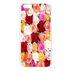 Rose Color Beautiful Flowers Apple Seamless iPhone 6 Plus/6S Plus Case (Transparent)