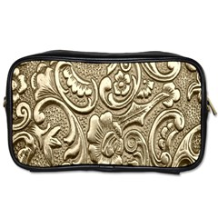 Golden European Pattern Toiletries Bags