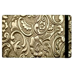 Golden European Pattern Apple iPad 3/4 Flip Case