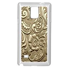 Golden European Pattern Samsung Galaxy Note 4 Case (White)