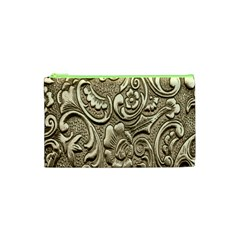 Golden European Pattern Cosmetic Bag (XS)