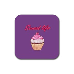 Sweet life Rubber Square Coaster (4 pack)