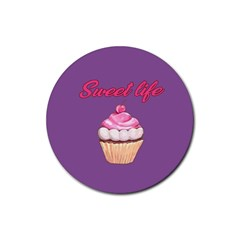Sweet life Rubber Round Coaster (4 pack)