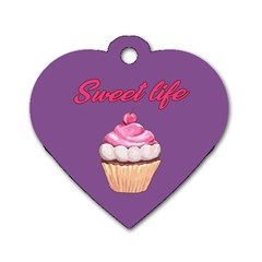 Sweet life Dog Tag Heart (One Side)