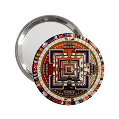 Colorful Mandala 2.25  Handbag Mirrors
