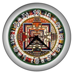 Colorful Mandala Wall Clocks (Silver)