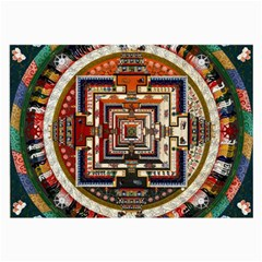 Colorful Mandala Large Glasses Cloth (2-Side)