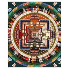 Colorful Mandala Drawstring Bag (Small)