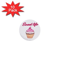 Sweet life 1  Mini Buttons (10 pack)