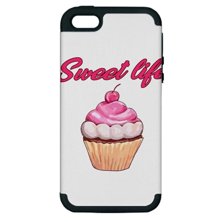 Sweet life Apple iPhone 5 Hardshell Case (PC+Silicone)