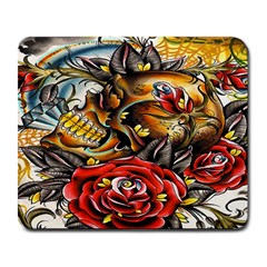Flower Art Traditional Large Mousepads