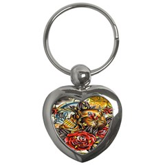 Flower Art Traditional Key Chains (Heart)