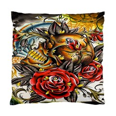 Flower Art Traditional Standard Cushion Case (Two Sides)