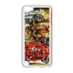 Flower Art Traditional Apple iPod Touch 5 Case (White)
