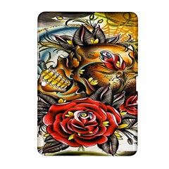 Flower Art Traditional Samsung Galaxy Tab 2 (10.1 ) P5100 Hardshell Case