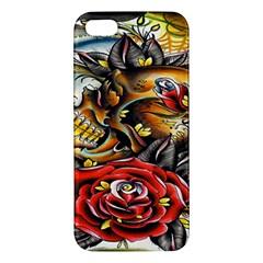 Flower Art Traditional iPhone 5S/ SE Premium Hardshell Case