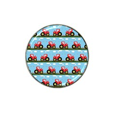 Toy Tractor Pattern Hat Clip Ball Marker (4 Pack)