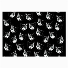 Cat pattern Large Glasses Cloth (2-Side)