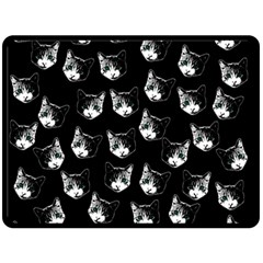Cat pattern Fleece Blanket (Large)