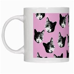 Cat pattern White Mugs