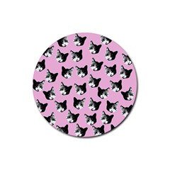 Cat pattern Rubber Round Coaster (4 pack)