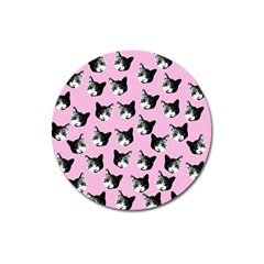 Cat pattern Magnet 3  (Round)